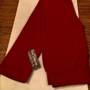 NWT One Step Up Sz L/XL red leggings